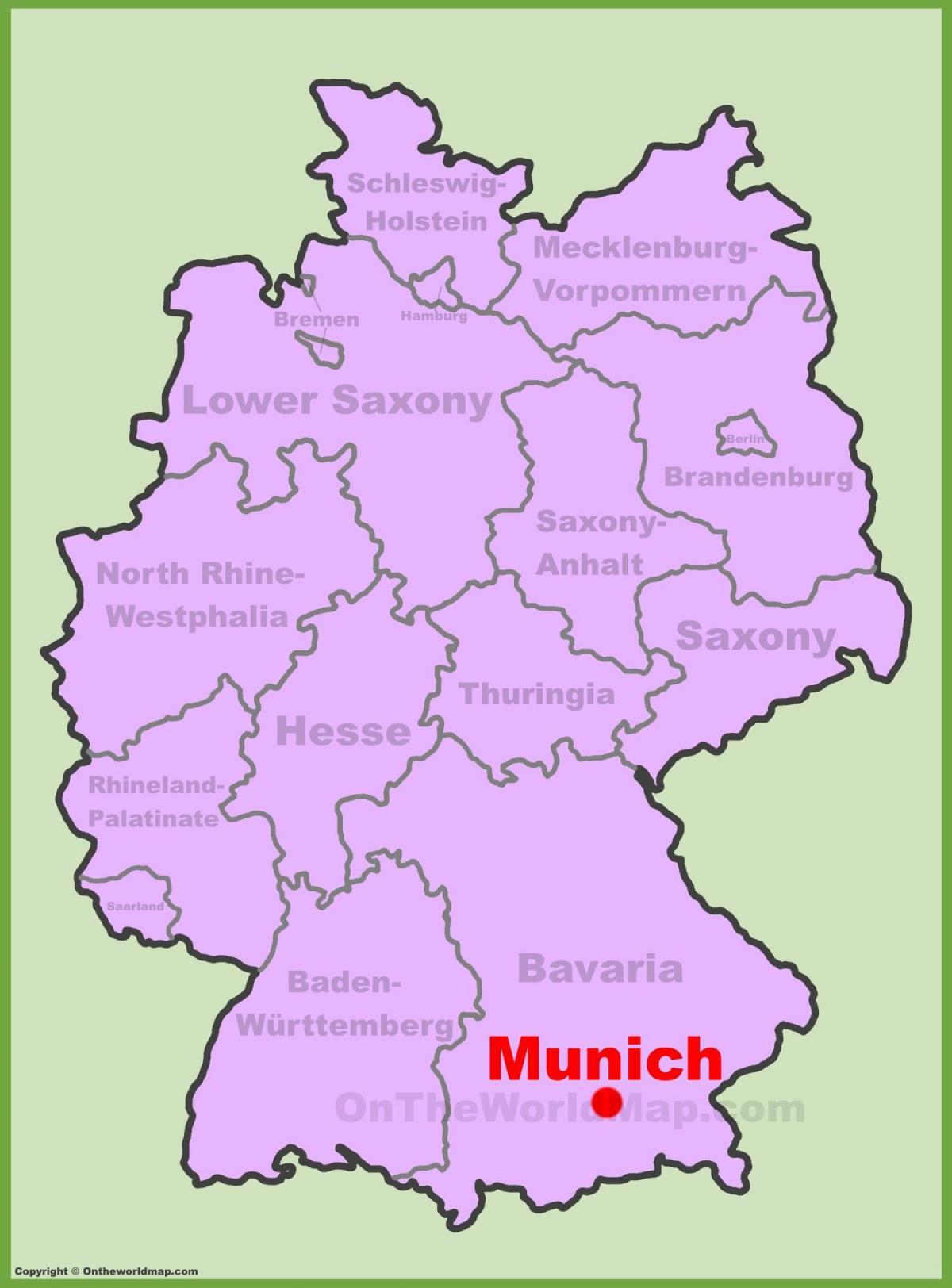 Munchen Beliggenhed Kort Kort Over Munchen Beliggenhed Bayern