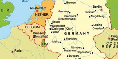 Munchen Kort Kort Munchen Bayern Tyskland